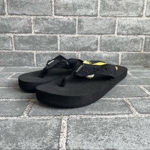 Reef Men's Black Smoothy Flip Flops 10
